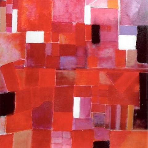 Composition 4 - Acrylique sur bois - 80x80 cm