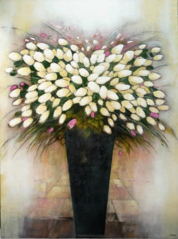 Composition Florale 3 - Acrylique sur toile - 130x97 cm