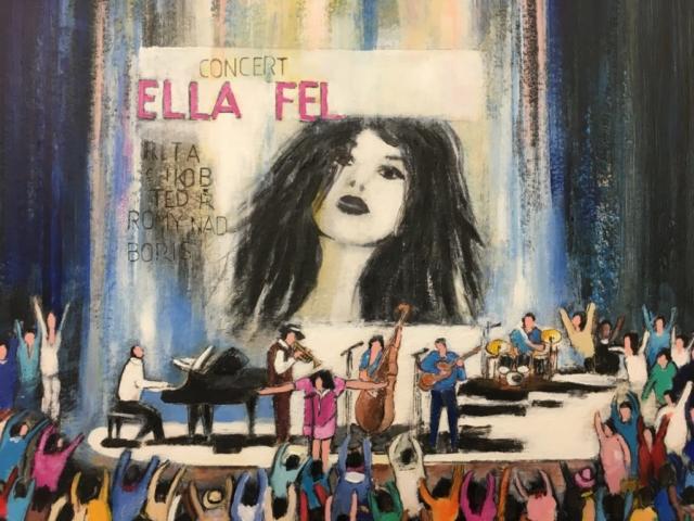 Ella Fel - Acrylique sur carton - 80cm x 120cm