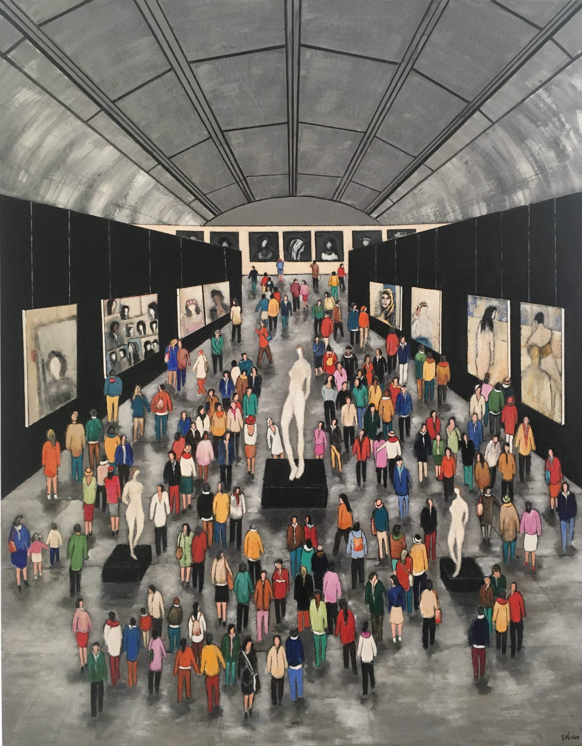Se retrouver dans l'art - Acrylique sur toile - 146cm x 114cm