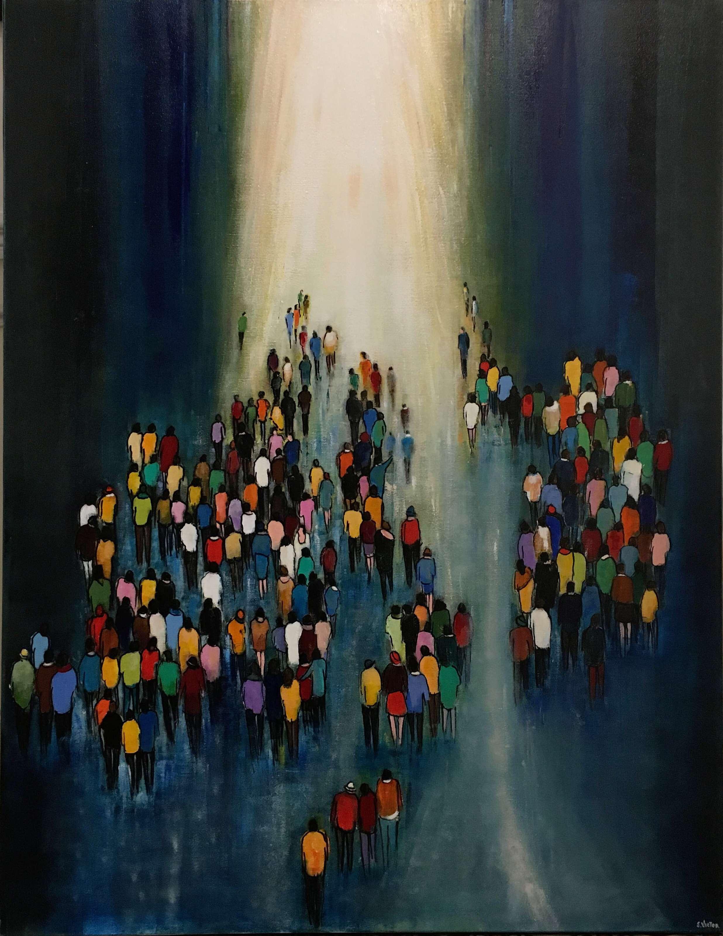 Vers la lumière - Acrylique sur toile - 130cmx97cm