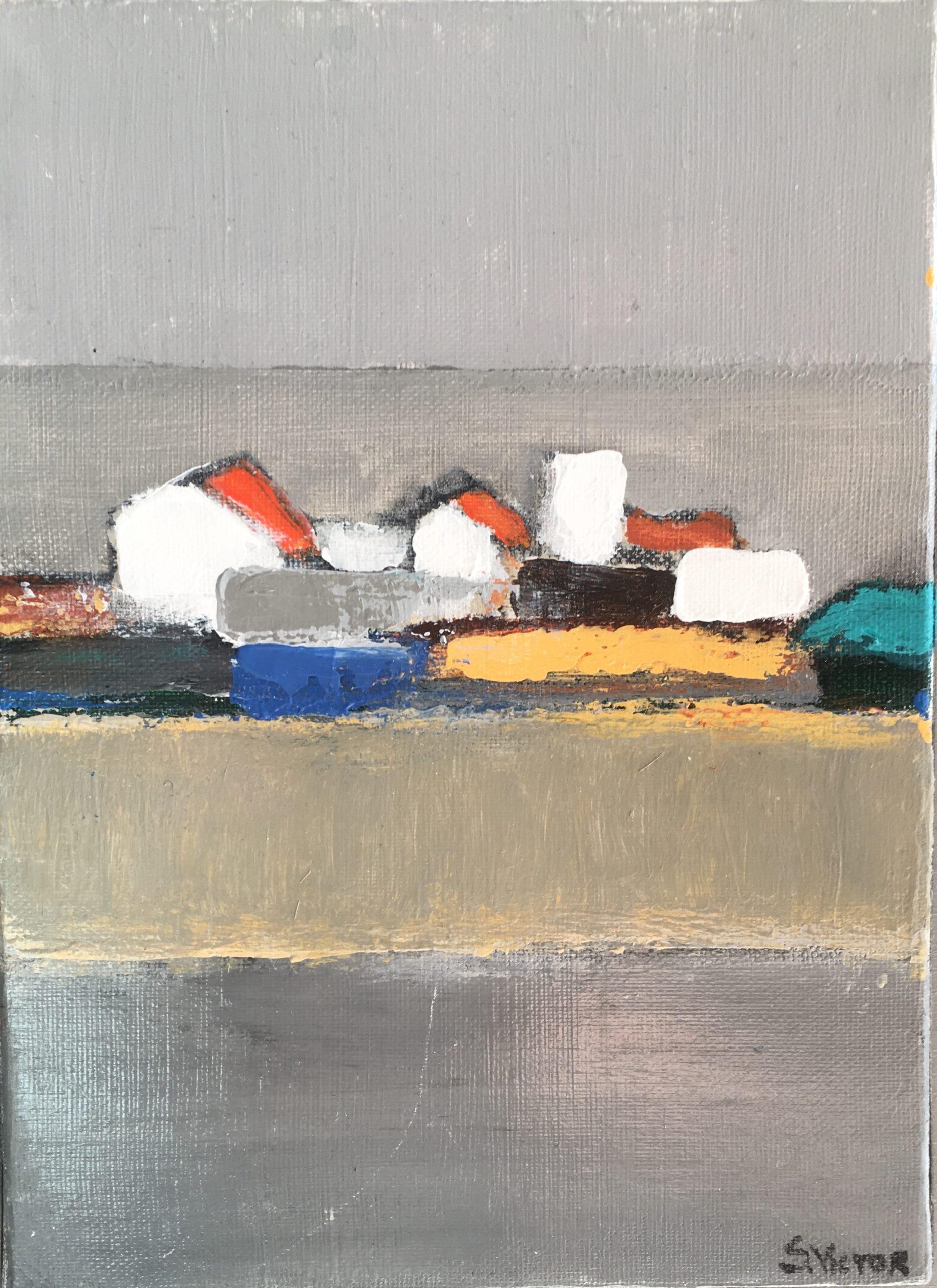 Composition 1 - Acrylique sur toile - 16x21 cm