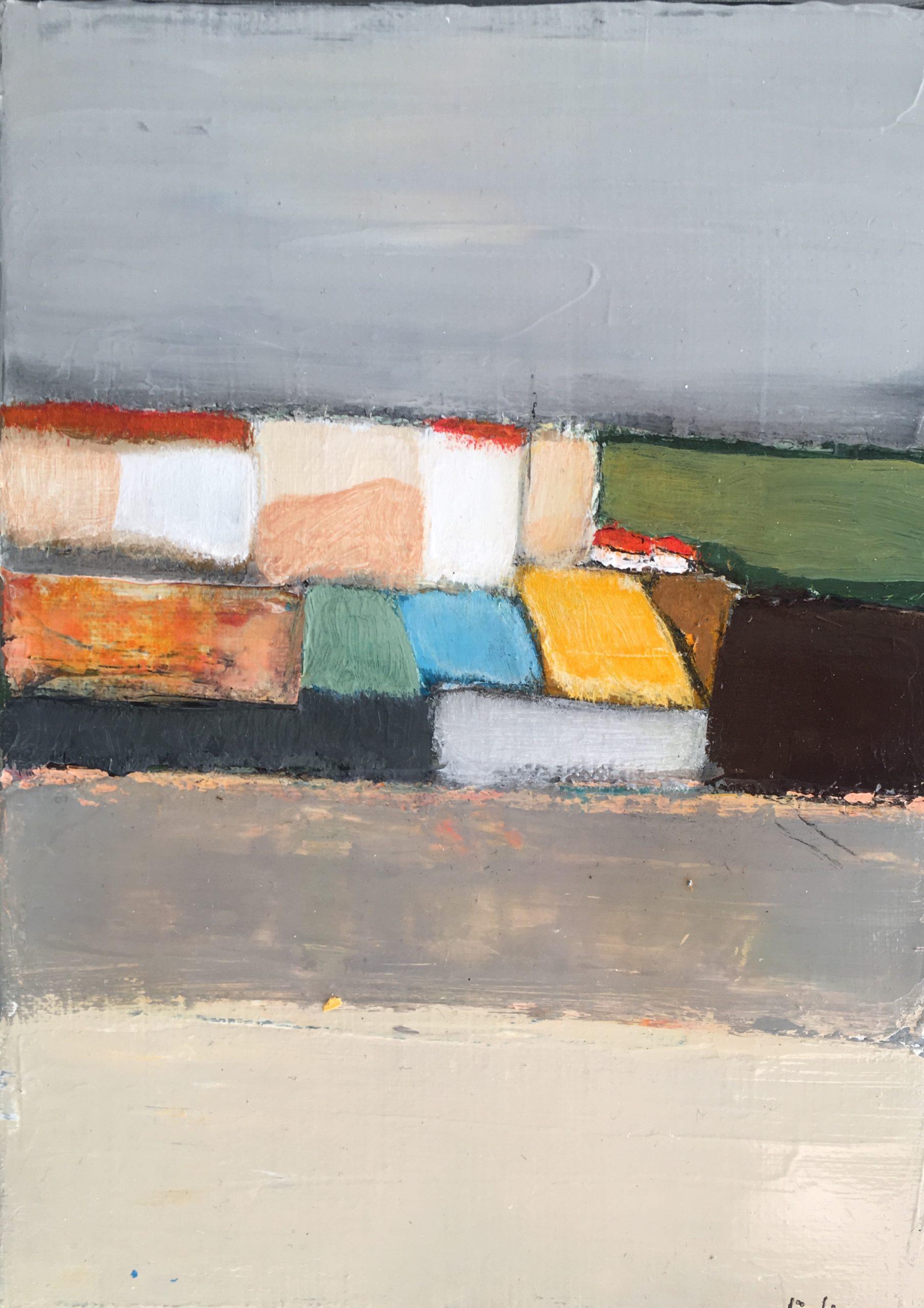 Composition 2 - Acrylique sur toile - 16x21 cm