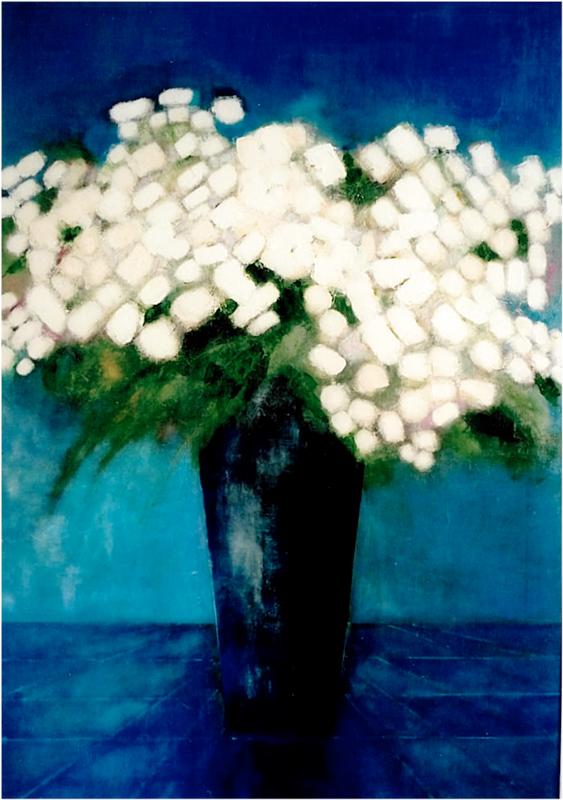 Le Bouquet blanc - Acrylique sur toile - 130x89 cm