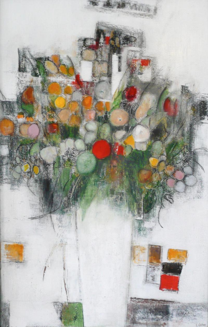 Le Vase Blanc - Acrylique sur Bois