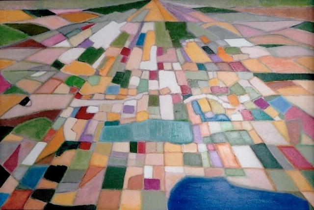 Paysage - Acrylique sur toile - 130x89 cm
