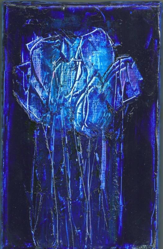 Tulipes - Acrylique sur toile - 14x22 cm