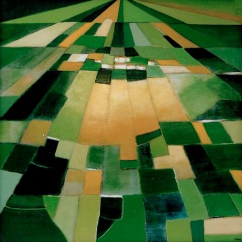 Printemps - Acrylique sur toile - 100x100 cm