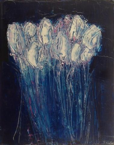 Tulipes 2 - Acrylique sur toile