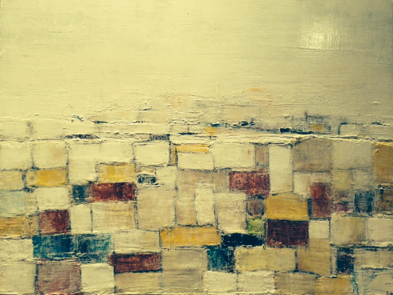 Le Hameau - Acrylique sur toile