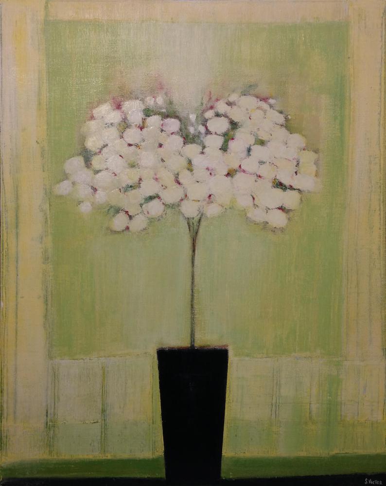 Azalée blanc - Acrylique sur toile - 80x100 cm