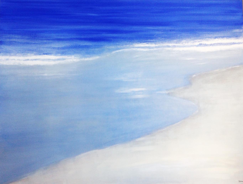 La Marée - Acrylique sur toile - 116x89 cm