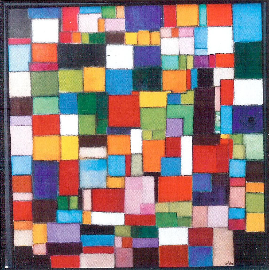 Composition 1 - Acrylique sur toile - 100x100 cm