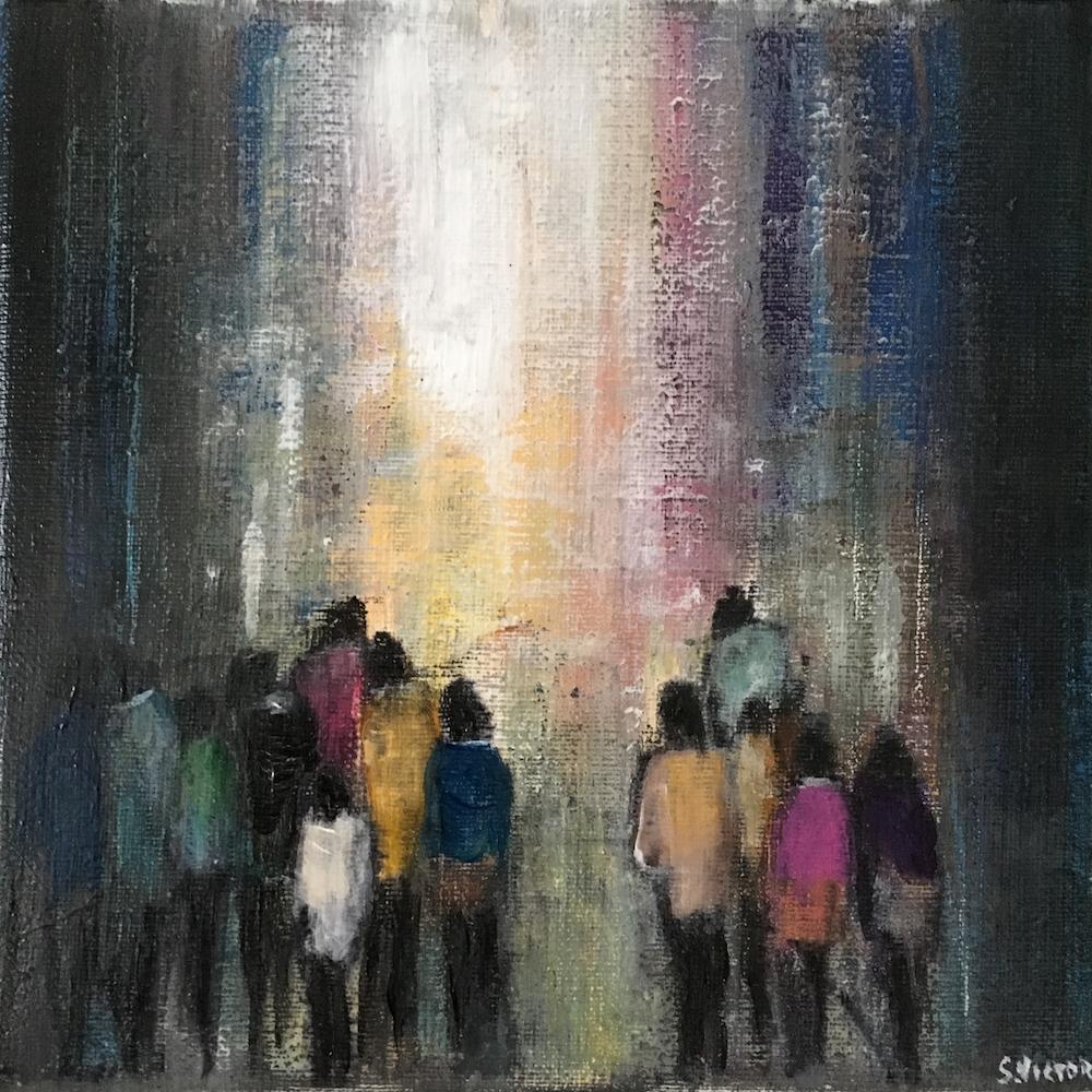 Vers la lumière - Acrylique sur toile