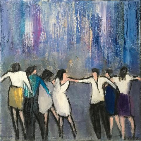 La danse - Acrylique sur toile