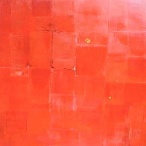 Soleil levant - Acrylique sur bois - 80x80 cm