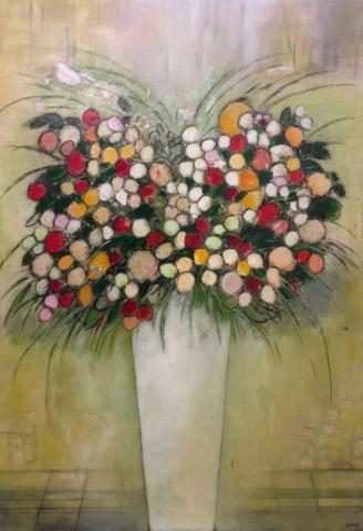 Boutons printaniers - Acrylique sur toile - 130x89 cm