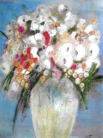 Composition Florale - Acrylique sur bois