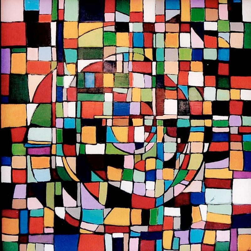 Composition 3 - Acrylique sur toile - 100x100 cm