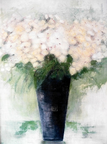 Composition Florale 2 - Acrylique sur toile - 130x89 cm