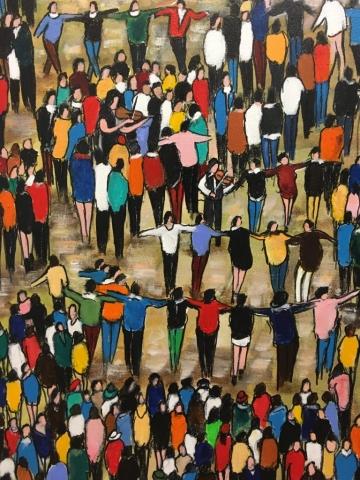 Ensemble (Détail) - Acrylique sur toile - 92cmx73cm (x2)