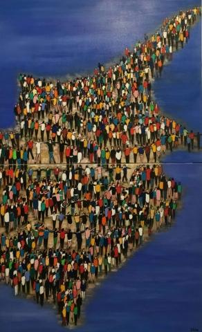 Ensemble (Diptyque) - Acrylique sur toile - 92cmx73cm (x2)