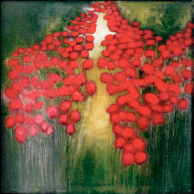 Floraison - Acrylique sur toile - 100x100 cm