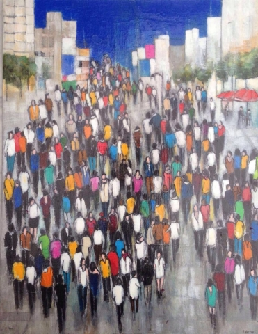 L'Avenue - Acrylique sur toile