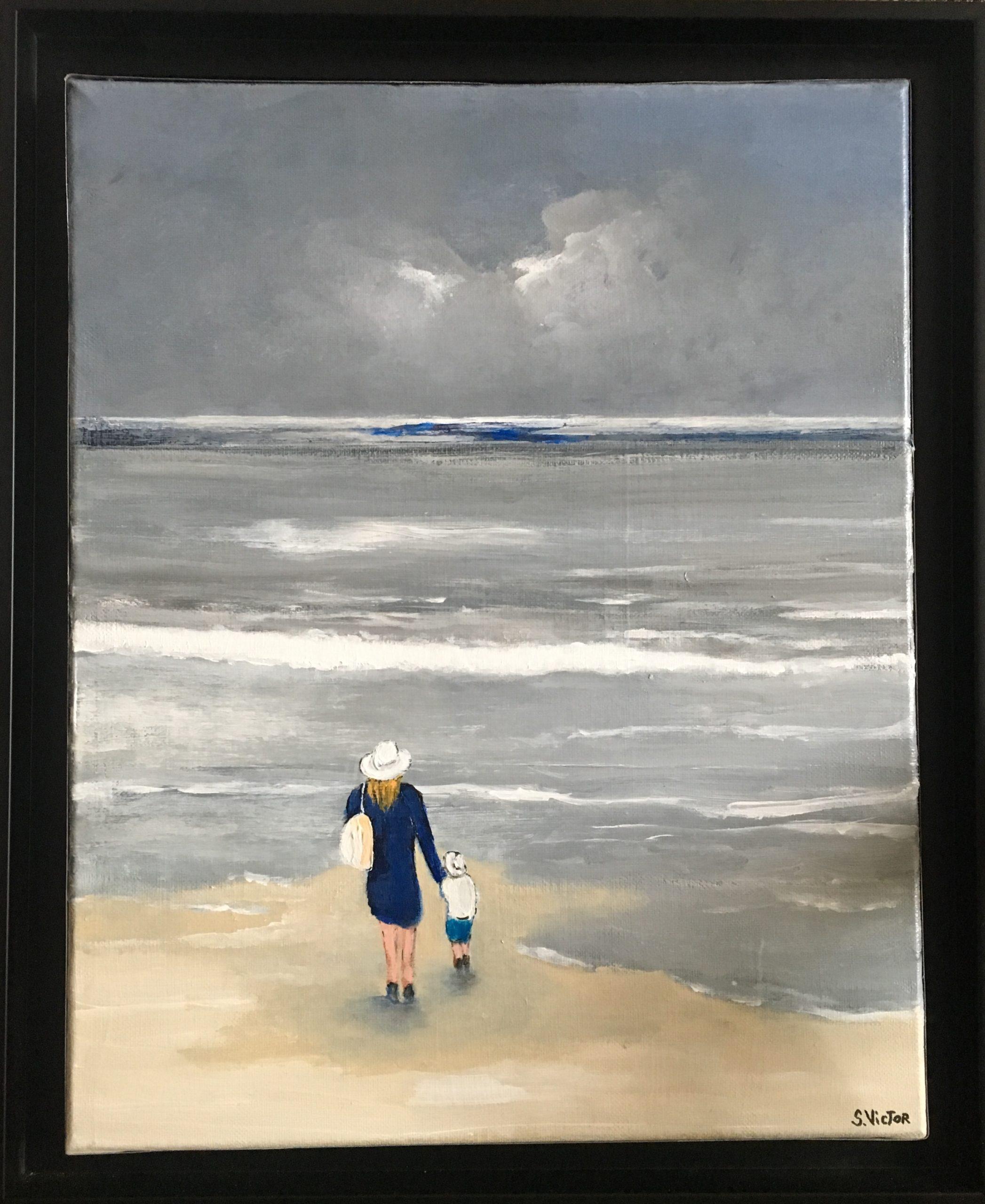Après la tempête - Acrylique sur toile - 100x100 cm