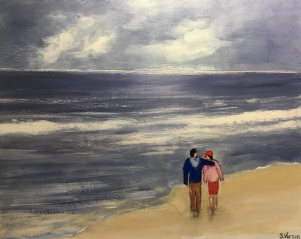 Avant l'orage - Acrylique sur toile - 41x33 cm