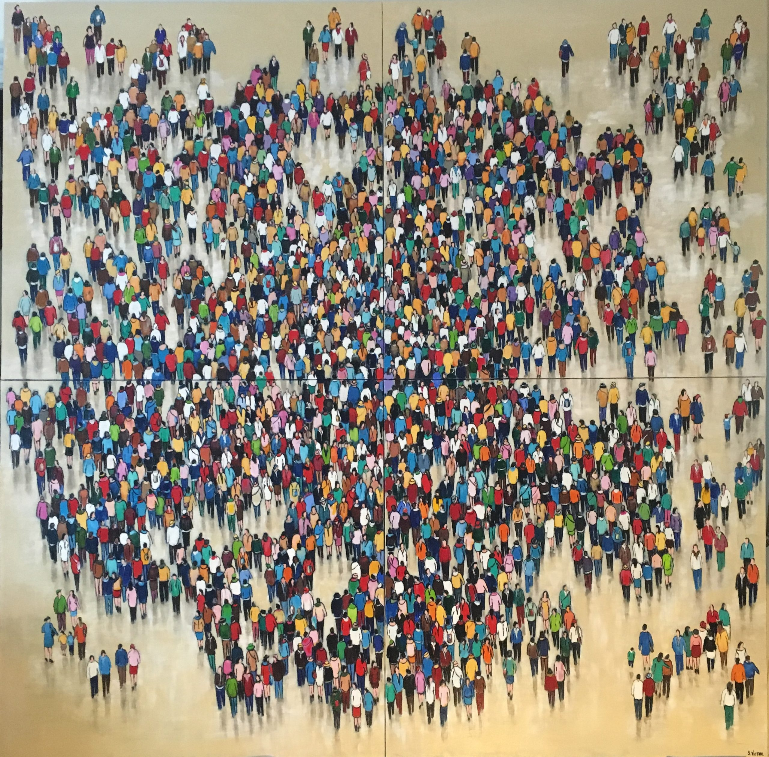 Le monde d'avant - Acrylique sur toile - 200cm x 200cm
