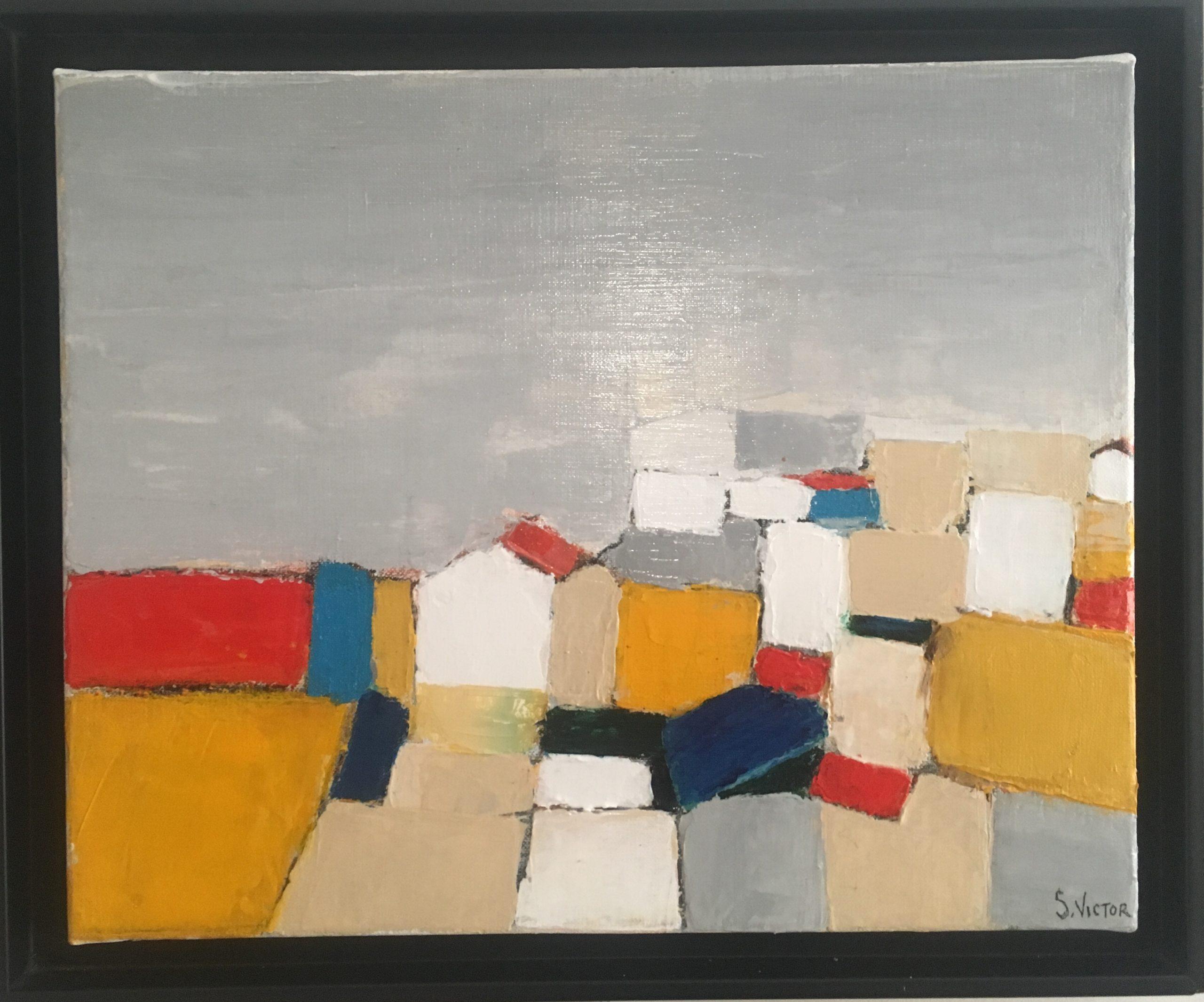 Village 1 - Acrylique sur toile - 40x33cm