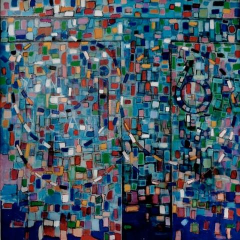 Palette - Acrylique sur bois - 100x100 cm