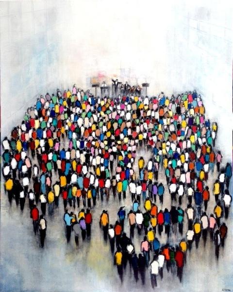 Le Concert - Acrylique sur toile - 73x92 cm