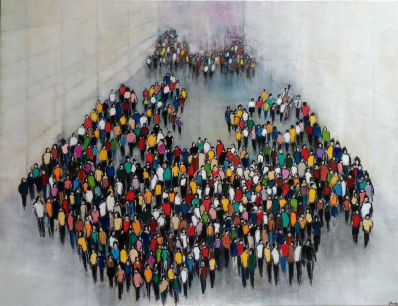 Le Passage - Acrylique sur toile - 116x89 cm