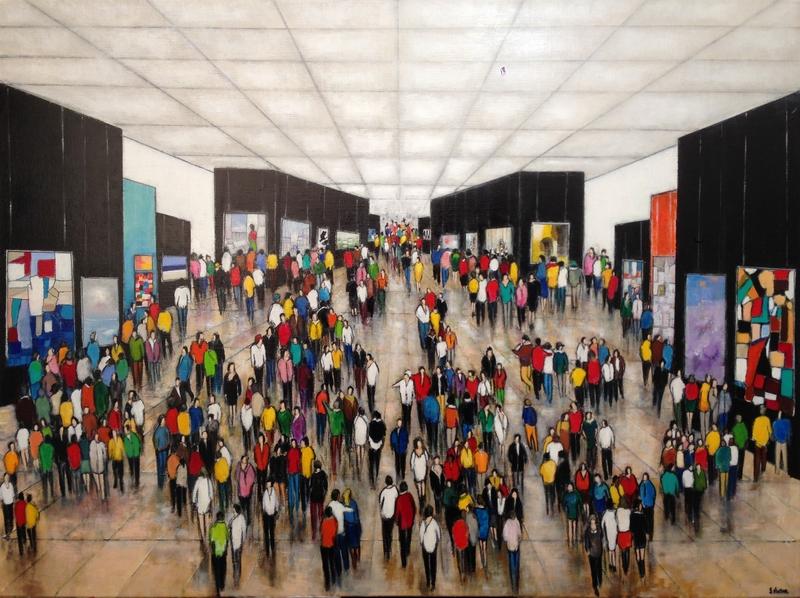 La Galerie - Acrylique sur toile - 130x97 cm