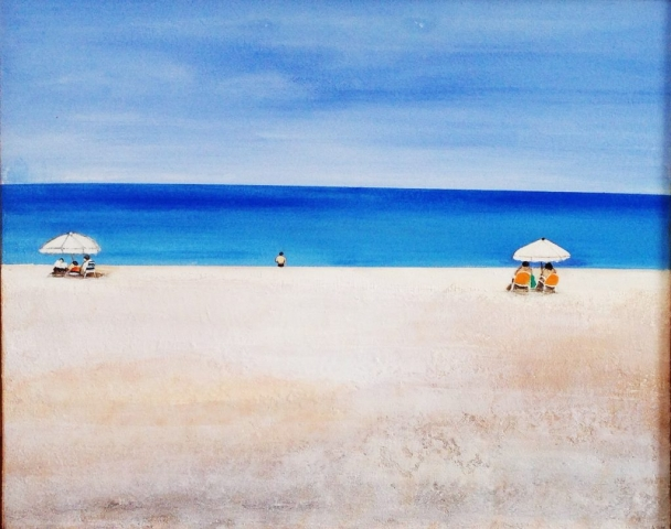 Baignade - Acrylique sur toile - 65x81 cm