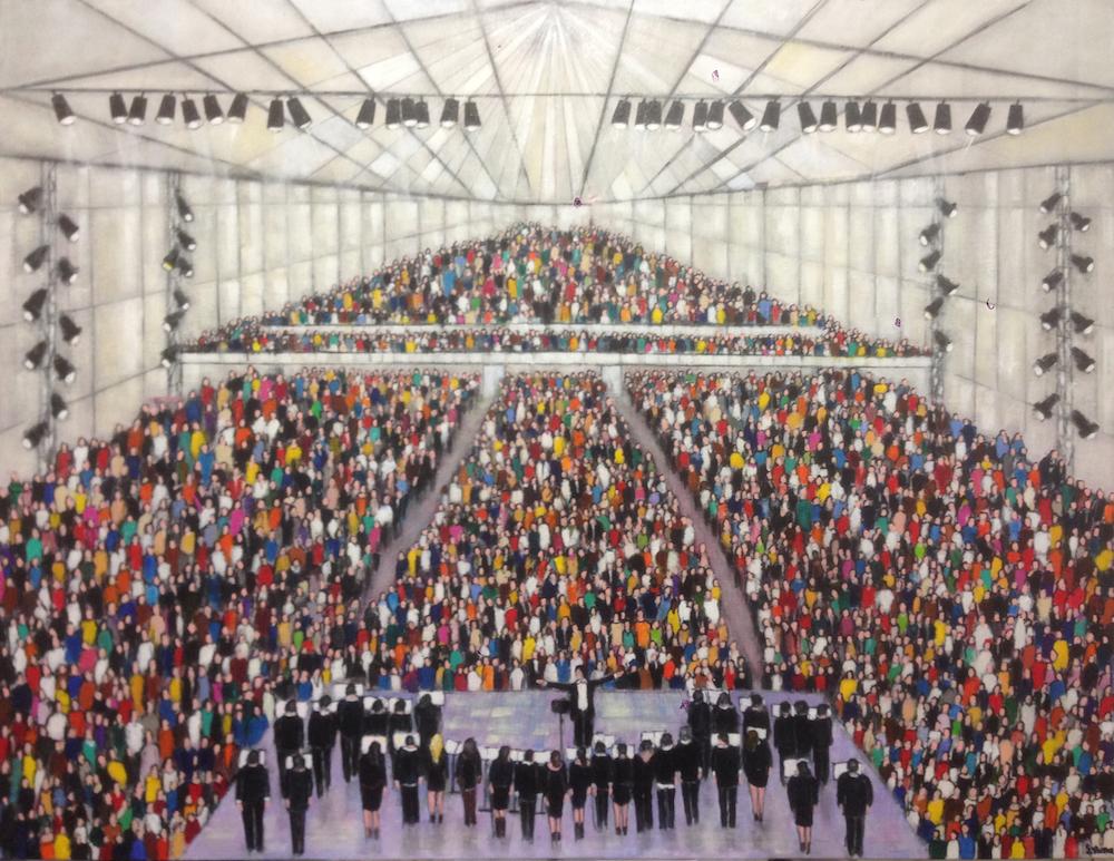 La Chorale - Acrylique sur toile - 116x89 cm