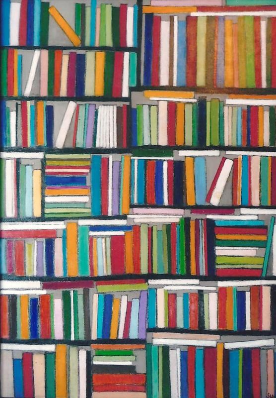 Librairie - Acrylique sur toile - 130x89 cm